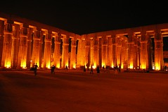 Luxor Temple, Egypt (phoenixesrose) Tags: architecture night temple photography photo ancient desert photos egypt statues photograph million donation avenue luxor romans pharoh cpa egyptians doctorswithoutborders sphinxs 10millionphotos tenmillionphotos phoenixesrose charityprintauctions donateforhaiti