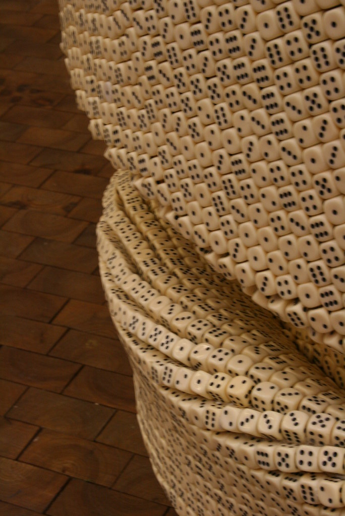 Detail of dice sculpture