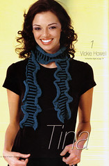 Tina Scarf (VickieHowell) Tags: by scarf magazine knitting stripes patterns crochet n knit craft style yarn kits vickie swtc howellcraftrocklovecom