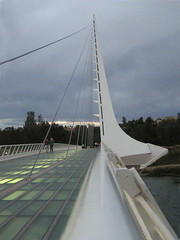 Sundial Bridge at Turtle Bay 11 (tgstewart1) Tags: california bridge sunset northerncalifornia sundial calatrava santiagocalatrava sacramentoriver pedestrianbridge turtlebay reddingca sundialbridge suspensionbridges turtlebaysundialbridge sundialbridgeatturtlebay