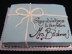 """Tiffany-style"" simple box (Glass Slipper Gourmet) Tags: bow ribbon paleblue blueandwhite presentcake tiffanybox barbaragriffin bridalshowercake"