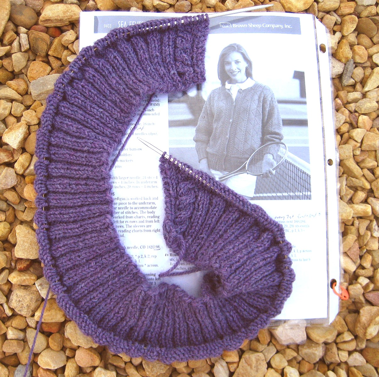 Sea Fever Cardigan ribbing