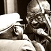 Clark Terry and James Moody Hold a Scat Rap