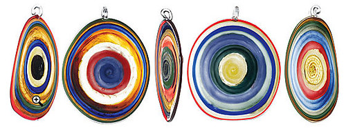 GLASS BULLS EYE SUNCATCHER | Hand Blown Glass Colored Rings Window Decoration By Jim Loewer | UncommonGoods :  glass suncatcher colored decoration