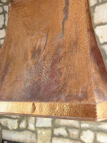 Copper fireplace hood from eBay