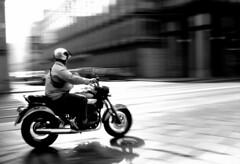 Via Cernaia (Stranju) Tags: bike speed torino strada corso via moto movimento panning turin bianco nero biancoenero viacernaia pavè portasusa sfidephotoamatori