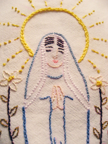 close up of the virgencita