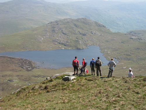 Taking a breather to enjoy the view in Snowdonia