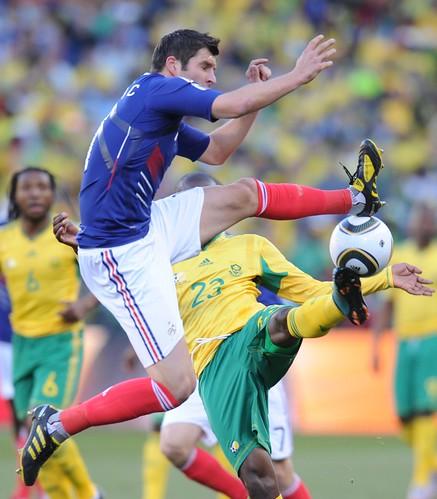 Francia versus partido Sudáfrica Mundial
