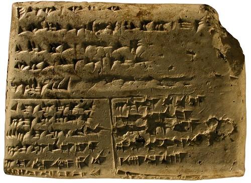 """Tablette découverte dans la """"Maison d'Ourtenou"""" (RS 94.2411, Musée national de Damas)"""