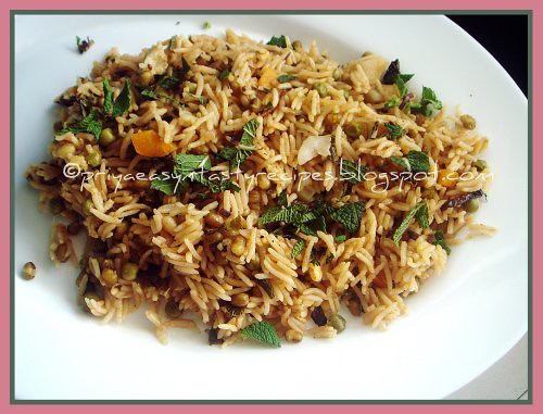 Mixed Veggies & Moong Sprouts Pulao