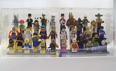 Collector Minifigures Series 1 & 2 - Display Case (Slayerdread) Tags: blue yellow lego collection series minifigs displaycase clearcase