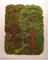 """Forest"" (Tugboat Printshop) Tags: art forest print printmaking woodcut woodblock reliefprint colorprint forestprint forestart tugboatprintshop colorwoodcut colorwoodblock pittsburghartists forestwoodcut forestwoodblockprint forestartprint forestcarvingprint limitededitionforestprint"