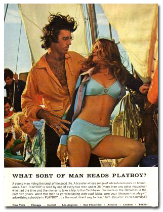 ... ads that would appear in the adult magazine Playboy several years later.