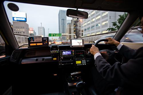 Inside of Tokyo cab
