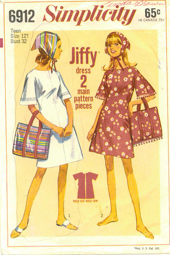 Summer dress and bag pattern, 1966