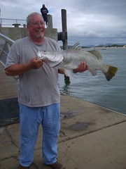 Happiest man alive (robstephaustralia) Tags: ocean fishing north australia queensland barra far cooktown barramundi