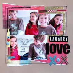 Laundry love (sunnydayshere) Tags: scrapbooking buttons stitching ribbon