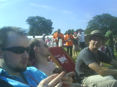 John, Owen and Alan (Mojen) Tags: cameraphone park summer london boyfriend alan john moblog phonecam innocent fete owen bump regentspark regents owenblacker alanbrett johnclements sonyericssonw850i innocentsummerfete