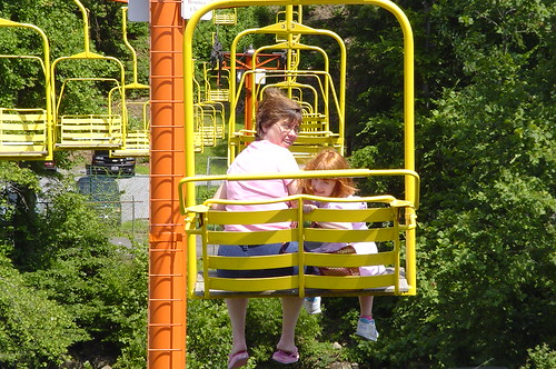 Cheryl and Holly on Gatlinburg's Sky Lift
