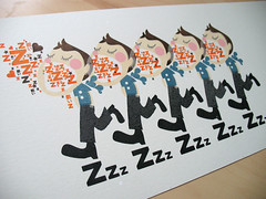 Zzz poster!! (inkdesigner) Tags: boston illustration screenprinting gocco printmaking zzz inker printgocco inkdesigner