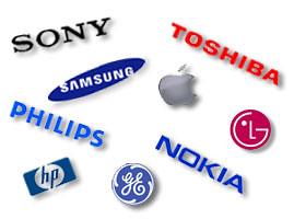 A mosaic of brand logos