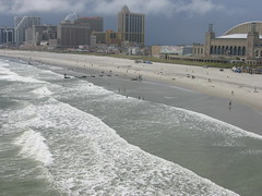 The Beach (iirraa) Tags: ocean new city summer pier newjersey surf waves nj atlantic september atlanticcity jersey shops sept caesars pieratcaesars shopsatthepieratcaesars