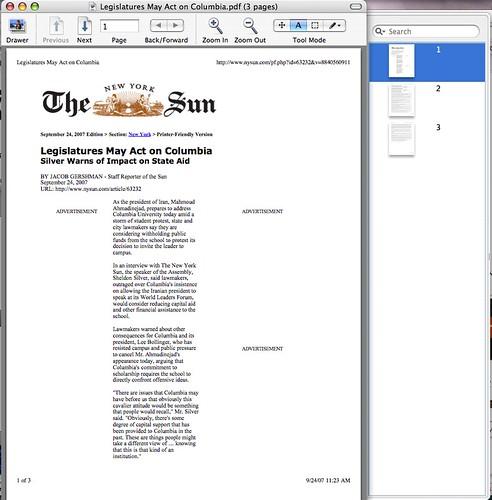 NY Sun Printed