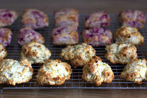 drop biscuits and patted-out scones