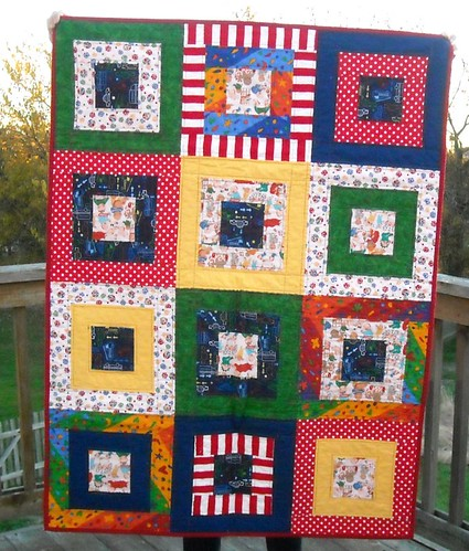 primary color charity quilt