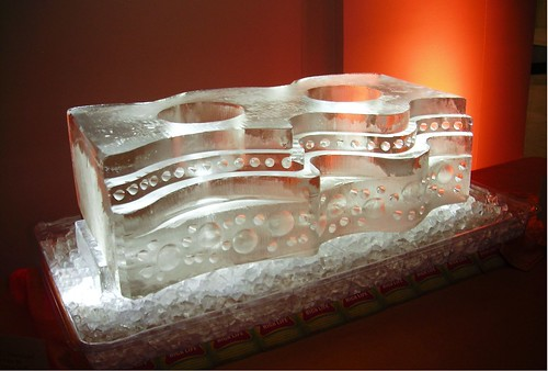Gelato Station @ MAM ice sculpture