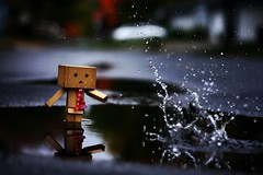 Disruption. (willycoolpics.) Tags: reflection toy dof action figure splash picnik disruption danbo revoltech danboard