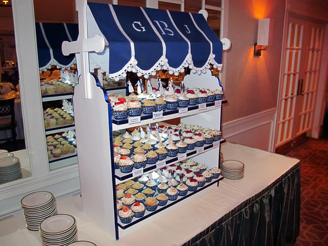 rehearsal dinner - cupcake display tower