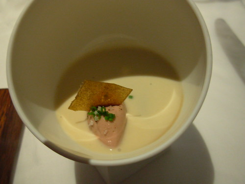 The Fat Duck - Jelly of Quail, Langoustine Cream, Parfait of Foie Gras