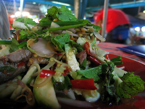 Seriously spicy beef salad
