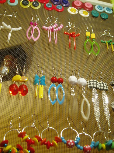 Conglomeration of earrings