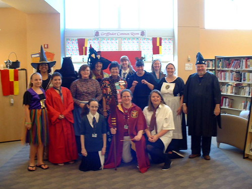 Staff all dressed up