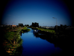 Some River in Delft (sinsia_~) Tags: blue holland netherlands river europe peaceful delft goodnight mywinners