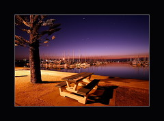 Table under the Stars - Manly Marina (Garry - www.visionandimagination.com) Tags: morning winter tree 20d water marina sunrise canon reflections stars table boats wasser oz manly australia august brisbane explore queensland aus tisch baum garry sterne twighlight xmaspresent interestingness341 i500 colorphotoaward excellentphotographerawards auselite lastminutexmas visionandimagination wwwvisionandimaginationcom