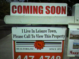 I LIVE IN LEISURETOWN