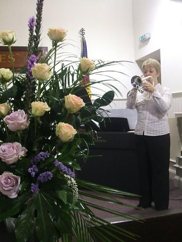 Yvonne Practising