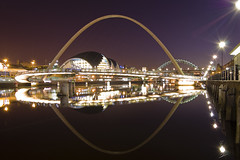 River Tyne at Night (Bobshaw) Tags: bridge night river newcastle sage tyne millennium gateshead onlyyourbestshots mailciler
