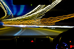 M5 Motorway Night Light Trails (Komatoes) Tags: 2 motion blur car vw night golf 50mm lights drive nikon long exposure driving motorway trails explore devon exeter freeway nightlight lighttrails m5 carlights lighttrail carlight d40 lightingtheway roadlight nikond40 nightlighttrails hawaalrayyanfav motorwaylight longexposurenightlighttrails longexposurenightlighttrail