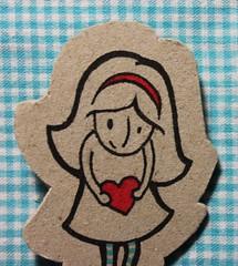 Desabafo meu :) (diana santa) Tags: blue red illustration doll pin heart pregadeira coração brooche ilustração