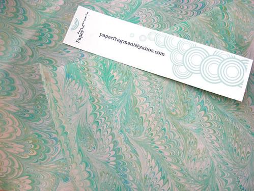 handmarbled paper