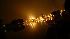 szeged (szajmon) Tags: bridge light night river nightshot riverside dom szeged longexp tisza pirosszhz