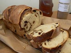 cinnamon raisin bread - bread making machine