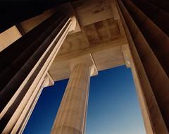 USA - Washington DC - Lincoln Memorial Columns (Darrell Godliman) Tags: travel copyright usa building travelling architecture america buildings mall us dc washington arquitectura districtofcolumbia unitedstates unitedstatesofamerica