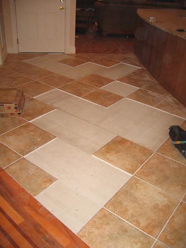 Kitchen Tile Floor Repair
