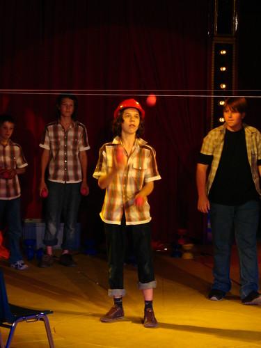 Joshua the juggler at the Basilisk Circus in Basel, Switzerland